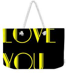 Love You Weekender Tote Bag