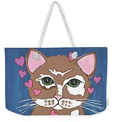 Loveable Cat Weekender Tote Bag by Kathleen Sartoris