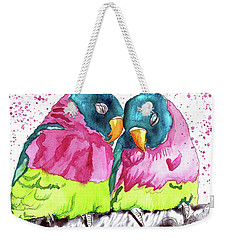 Lovebirds Weekender Tote Bag by D Renee Wilson