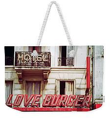 Loveburger Hotel Weekender Tote Bag