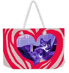 Loveheart Kitty Weekender Tote Bag