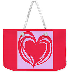 Loveheart Weekender Tote Bag by Mary Armstrong