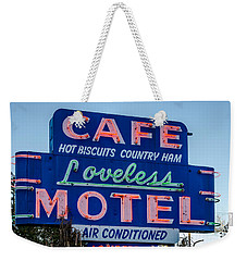 Loveless Cafe And Motel Sign Weekender Tote Bag