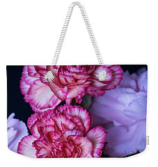 Weekender Tote Bag featuring the photograph Lovely Carnation Flowers by Ester Rogers