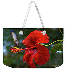 Weekender Tote Bag featuring the photograph Lovely Day by John Kolenberg