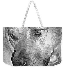 Weekender Tote Bag featuring the drawing Lovely Dog by Lucia Sirna