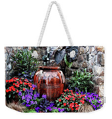 Weekender Tote Bag featuring the photograph Lovely Garden  by Trina Ansel