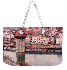 Lovely Lake Lucerne Weekender Tote Bag by Susan Maxwell Schmidt