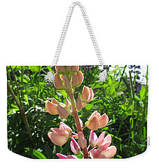 Weekender Tote Bag featuring the photograph Lovely Lupins by Martin Howard