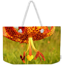 Lovely Orange Spotted Tiger Lily Weekender Tote Bag by Kent Lorentzen