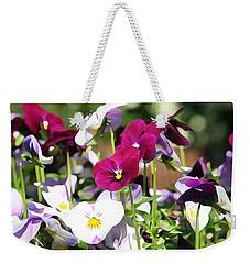 Lovely Pansies  Weekender Tote Bag by Gabriella Weninger - David