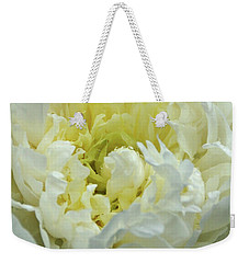 Weekender Tote Bag featuring the photograph Lovely Peony by Sandy Keeton