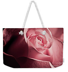 Weekender Tote Bag featuring the photograph Lovely Pink Rose by Micah May