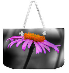 Weekender Tote Bag featuring the photograph Lovely Purple And Orange Coneflower Echinacea by Shelley Neff