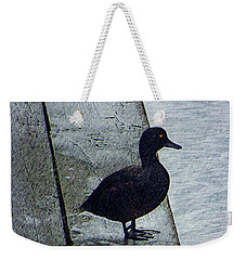 Weekender Tote Bag featuring the digital art Lovely Weather For Ducks by Steve Taylor