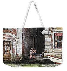 Lovers In Venice Weekender Tote Bag