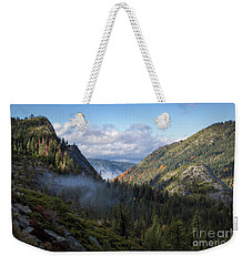 Weekender Tote Bag featuring the photograph Lovers Leap Autumn by Mitch Shindelbower