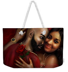 Lovers Portrait Weekender Tote Bag