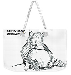 Loving Mondays Weekender Tote Bag