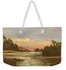 Low Country Sunset Weekender Tote Bag