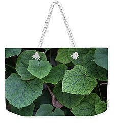 Weekender Tote Bag featuring the photograph Low Key Green Vines by Jingjits Photography
