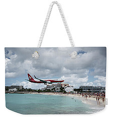 Low Landing At Sonesta Maho Beach Weekender Tote Bag