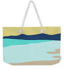 Weekender Tote Bag featuring the mixed media Low Tide- Art By Linda Woods by Linda Woods