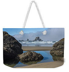 Low Tide At Ecola Weekender Tote Bag