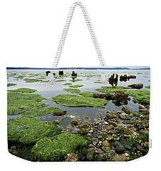 Low Tide At Port Townsend Weekender Tote Bag