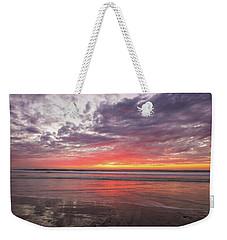 Low Tide Del-mar Beach Img 3 Weekender Tote Bag