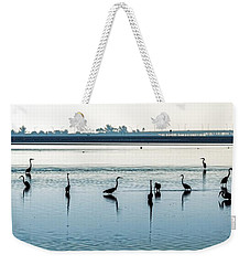 Weekender Tote Bag featuring the photograph Low Tide Gathering by Steven Sparks