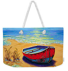 Weekender Tote Bag featuring the painting Low Tide - Impressionistic Art, Landscpae Painting by Patricia Awapara