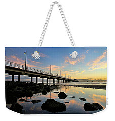 Low Tide Reflections At The Pier  Weekender Tote Bag