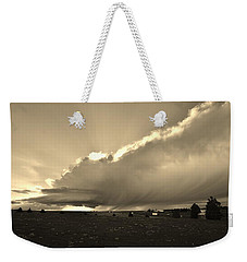 Low-topped Supercell Black And White  Weekender Tote Bag by Ed Sweeney