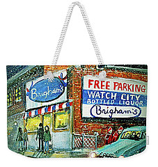 Lower Brigham's Weekender Tote Bag by Rita Brown