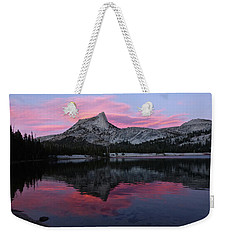 Lower Cathedral Lake Sunset Weekender Tote Bag
