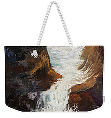 Lower Chasm Waterfall Weekender Tote Bag
