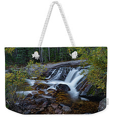 Weekender Tote Bag featuring the photograph Lower Copeland Falls by Gary Lengyel