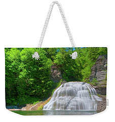 Weekender Tote Bag featuring the photograph Lower Falls 0485 by Guy Whiteley