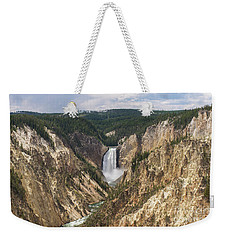Lower Falls Of The Yellowstone Weekender Tote Bag