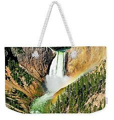 Lower Falls Rainbow Weekender Tote Bag by Greg Norrell