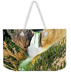 Lower Falls Rainbow Weekender Tote Bag