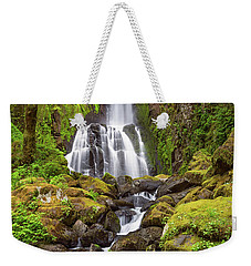 Weekender Tote Bag featuring the photograph Lower Kentucky Falls In Spring by Patricia Davidson