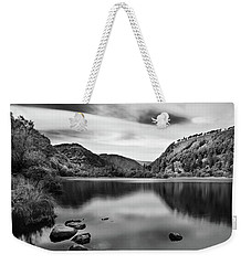 Weekender Tote Bag featuring the photograph Lower Lake At Glendalough, County Wicklow - Ireland by Barry O Carroll