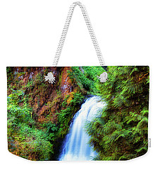 Lower Multnomah Waterfall In The Columbia River Gorge Weekender Tote Bag