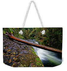Weekender Tote Bag featuring the photograph Lower Punch Bowl Falls by Jonathan Davison