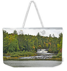Lower Tahquamenon Falls 4 Weekender Tote Bag by Michael Peychich