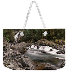 Weekender Tote Bag featuring the photograph Lower Twin Falls by Jeff Swan