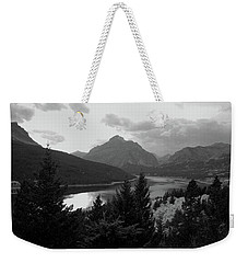 Lower Two Medicine Lake In Black And White Weekender Tote Bag