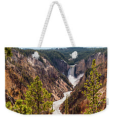 Lower Yellowstone Canyon Falls 5 - Yellowstone National Park Wyoming Weekender Tote Bag by Brian Harig